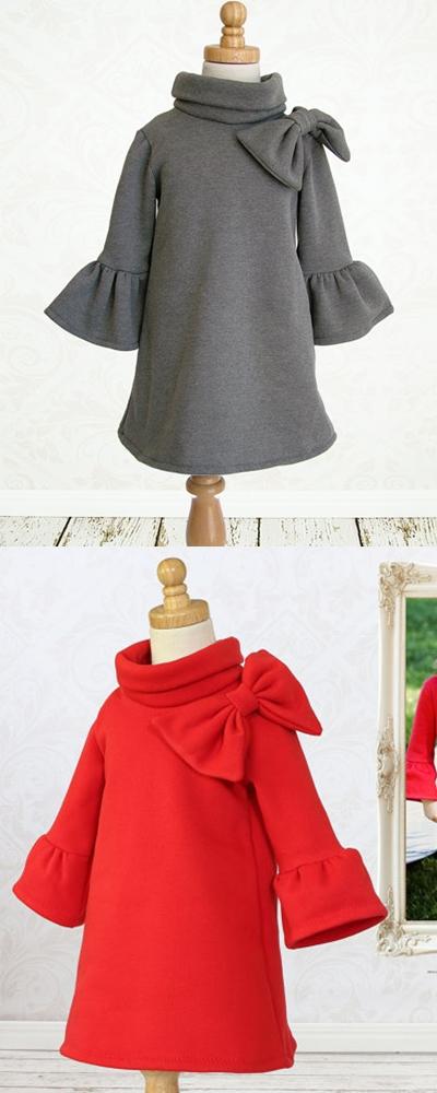Elke Winter dress sewing pattern for girls