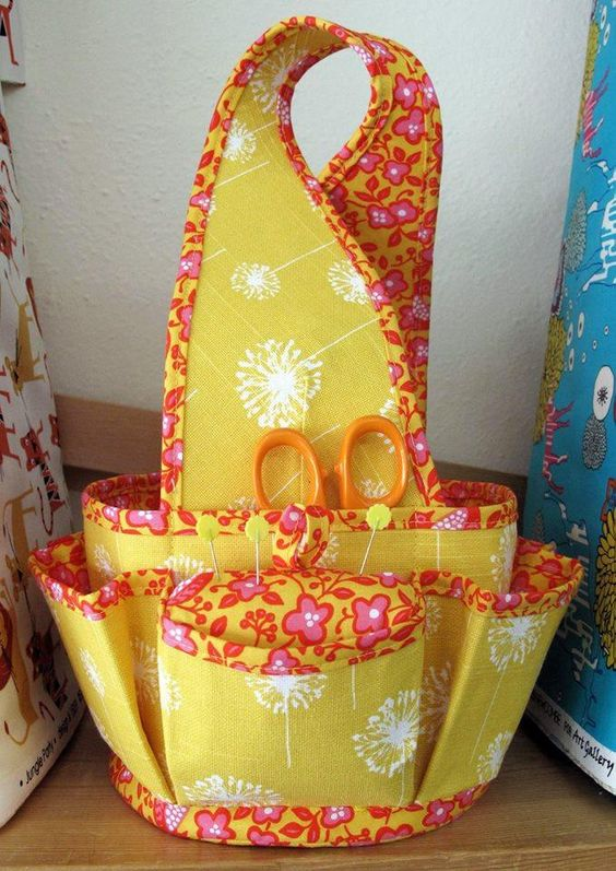 Sewing basket. sewing room organisation ideas, small sewing room organization
