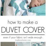 Duvet Cover Sewing Tutorial