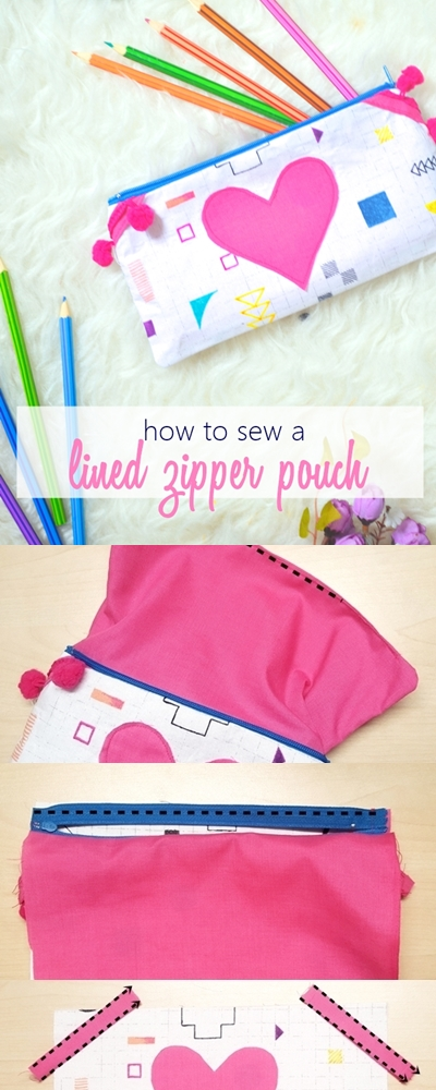 easy zippered pouch tutorial | easy sew zippered pouches | How to make lined zipper pouch | zippered pouch sewing tutorial |