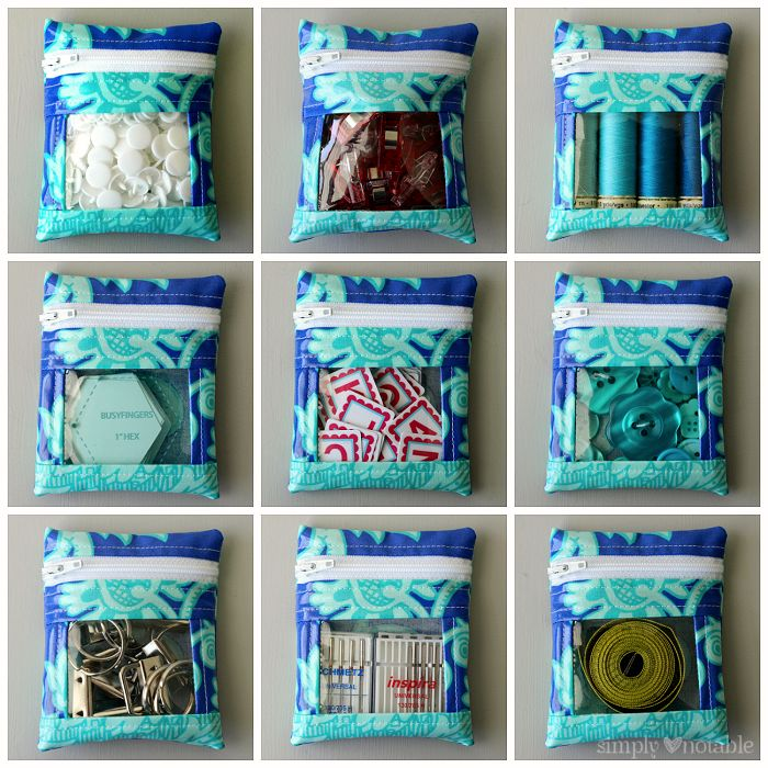 Small vinyl peek a boo pouches