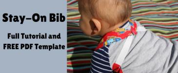 Reversible Stay – on Bib Tutorial + Pattern