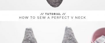 How to Sew a Perfect V-neck?