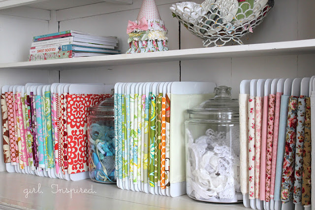 Check Out How Stef From Girl Inspired Used These Special Fabric Organizers  To Sort Out Her Stash Below. CLICK HERE To Get One For Yourself.