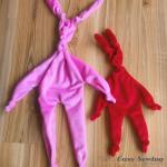 Knot Bunny Baby Comforter Tutorial