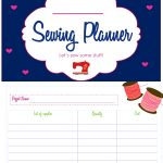 Sew Inspiring Sewing Project Planner (FREE PRINTABLE)