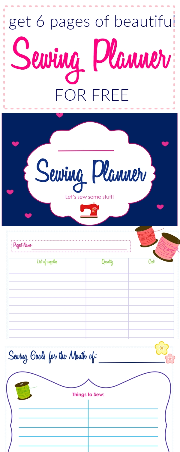 sewing planner, free sewing planner, sewing for beginners